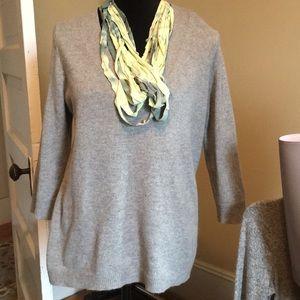 Tesori cashmere V neck sweater